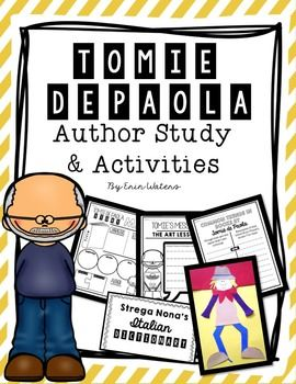 This author study unit of Tomie dePaola is a great way to celebrate one of the best children's authors of our generation. It is jam-packed with many resources for learning about Tomie, his life, and his work. Included are:--2 Posters (color photograph & black & white clipart picture)--Writing response: identifying a favorite part of any Tomie dePaola book--Writing response: identifying the most important part of any Tomie dePaola book--All About Tomie: a modern newspaper layout of facts ...