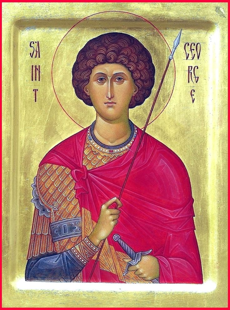 """St. great martyr George. 2013. Wood, gesso, tempera, gilding. 8,2"""" x 6,5"""". Private collection (USA)."""