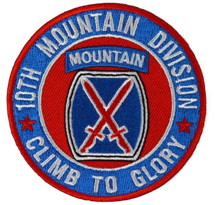 10TH MOUNTAIN DIVISION CLIMB TO GLORY ROUND PATCH