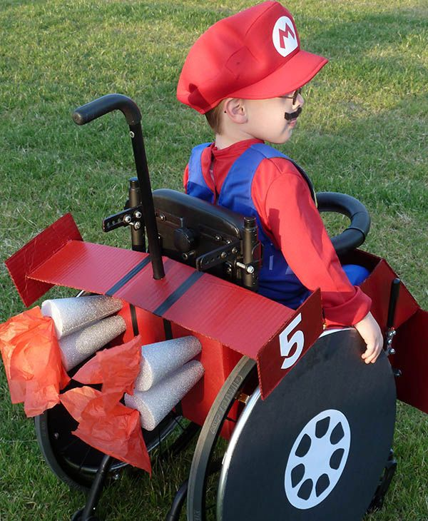 Halloween 2010 with Caleb, 5, as Mario driving his kart. <span class=meta>(Cassie McLelland)</span>
