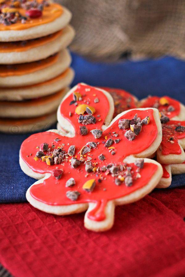 Fall Sugar Cookies, soft sugar cookies, sugar cookie recipe