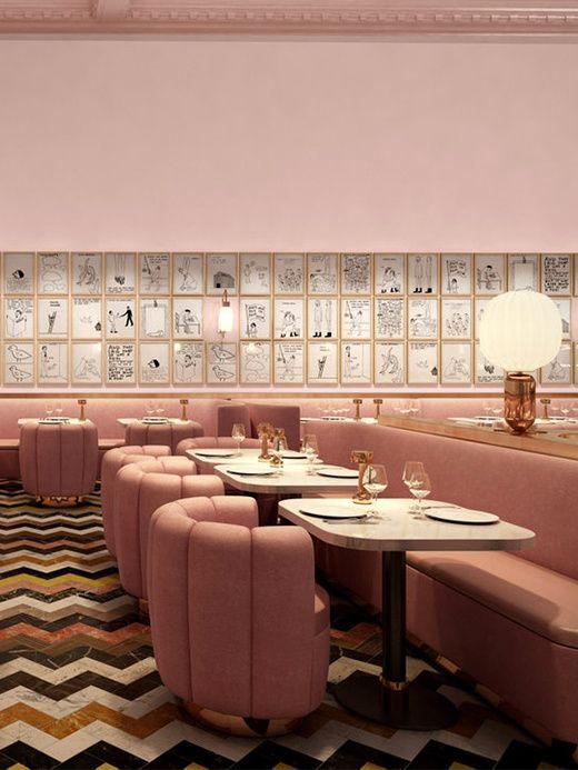 Le restaurant du Sketch à Londres signé par India Mahdavi et l'artiste David Shrigley.