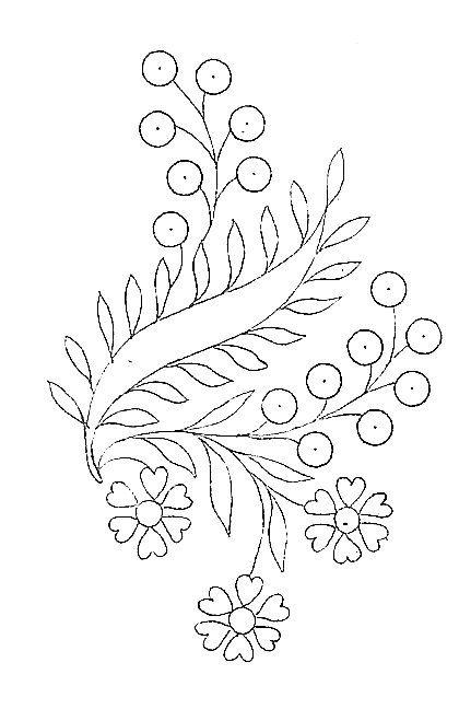 fleurs - Broderie d'Antan