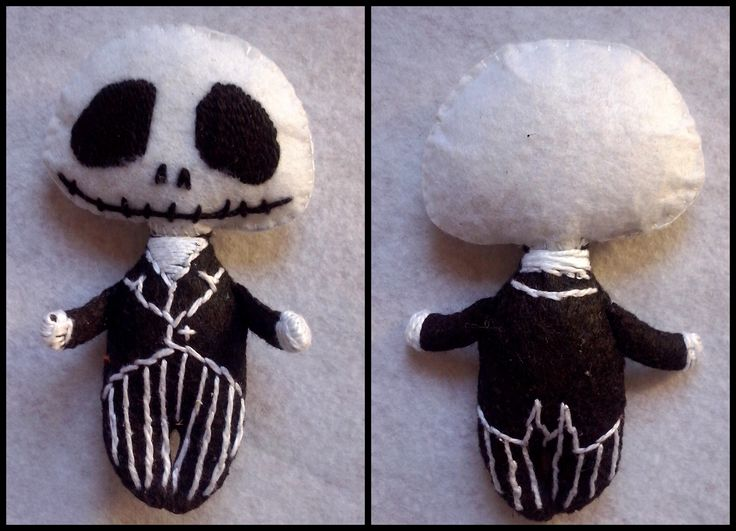 #JackSkellingtonFelt JackSkellington Felt Fieltro The Nightmare Before Christmas characters Pesadilla antes de Navidad