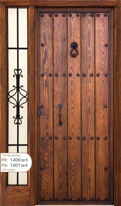 Puertas rusticas de madera pictures to pin on pinterest - Picaportes puertas interiores ...