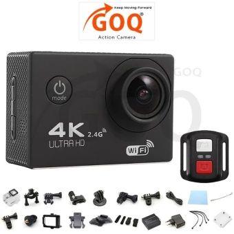 ขอแนะนำ  GOQ F60R 4K 30fps 16M Action Sports Camera Cam Remote ShutterControl - intl  ราคาเพียง  2,234 บาท  เท่านั้น คุณสมบัติ มีดังนี้ 4K 30fps, 2.7K 30fps, 1080P60fps, 1080P 30fps, 720P 120fps, 720P 60fps, 720P 30fps High Resolution SONY 179CMOS Sensor Video Time-LapsedSupported Slow Motion VideoSupported Ultra Wide Angle 170° Lens(F2.8 / f=2.99mm) 2 inches LCD Screen(960*240) 30 meter Depth IP68Waterproof Case to capture video under water 6G HD 170° degree wideangle lens Built-in WiFi for…
