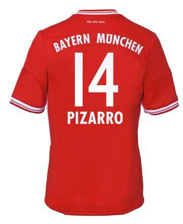 2013-2014 Bayern Munich Adidas Home Football Shirt (14 Pizarro) http://www.arhikultura.org/new-2013-2014-bayern-munich-adidas-home-football-shirt-14-pizarro-online-store-p-261.html