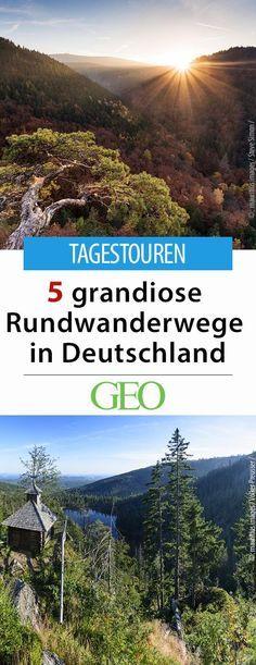"""Tagestouren: Fünf grandiose Rundwanderwege in Deutschland. """"Nur wo du zu Fuß warst, bist du auch wirklich gewesen"""" - das wusste schon Goethe. An welchen Rundwanderwegen in Deutschland Sie unbedingt gewesen sein müssen, erfahren Sie hier"""