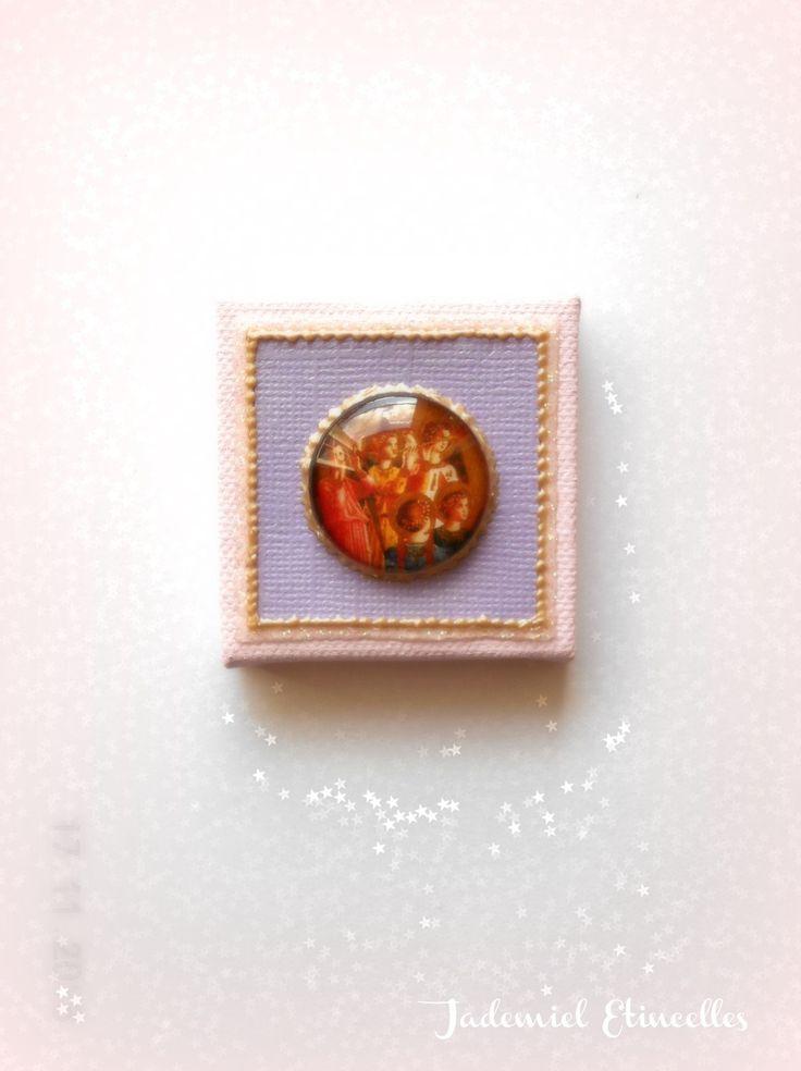 """* Noël * Toile miniature décorative série """" Sainte Nuit ... """" n°75 : Accessoires de maison par jademiel-etincelles"""