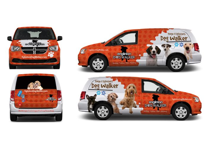 vehicle wrap design needed 4 dog walking company signage design 41 by