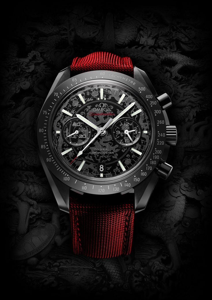 "Watch What-If: Omega Speedmaster Dark Side Of The Moon - See more wild Speedmaster concepts - on aBlogtoWatch.com ""Hopefully, this set of artistic renderings of the Omega Speedmaster Co-Axial Chronograph Dark Side of the Moon marks a return to our beloved 'Watch What-If' series, where we explore what popular watch models might look like as seen through different eyes. Swedish artist and graphic designer Niklas Bergenstjerna has some fun with everyone's favorite ceramic Speedmaster..."""