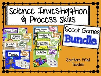 Get your students up and moving and having fun! But don't tell them that they're learning at the same time!This bundle has 8 Scoot games related to science investigation and skills and includes:Safety {Science} ScootConservation of Resources {Science} ScootExperimental Design {Science} ScootTables, Charts, & Graphs {Science} ScootScientific Reasoning {Science} ScootScientific Models {Science} ScootScience Careers {Science} ScootScience Tools {Science} ScootBuying the bundle saves you money!