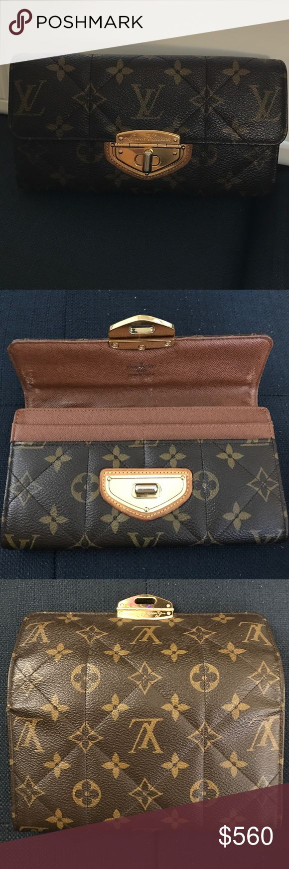 100% Authentic Louis Vuitton Etoile Sarah wallet 100% Authentic Louis Vuitton Etoile Sarah wallet monogram without box/ receipt. I purchased it at Louis Vuitton in Century City mall in Los Angeles (in 2010). No rips or cracks. But there are marks and sign of wear. Made in France and date code is SP0130.                           Please ask me more pictures in order to avoid unnecessary return. It's sold as is.  Please no trade. Louis Vuitton Bags Wallets