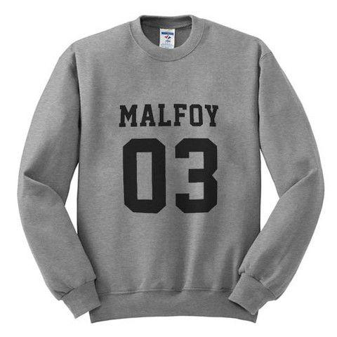 malfoy 03 FRONT #sweatshirt #shirt #sweater #womenclothing #menclothing #unisexclothing #clothing #tops