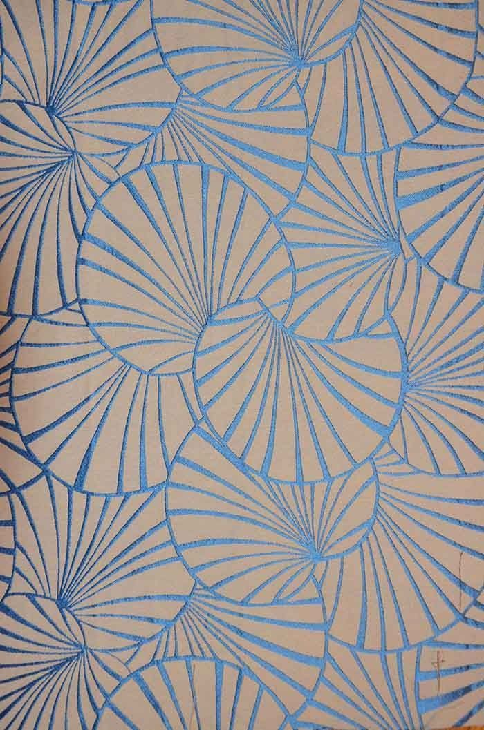 Blue and beige patterned wallpaper from Maison & Objet 2015.