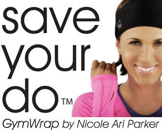 It's about time someone invented this.  Save Your Do GymWrap!  As featured in The Well Chick Project Holiday Gift Guide for DIY Beauty Fans.  #fitness  #gymwrap