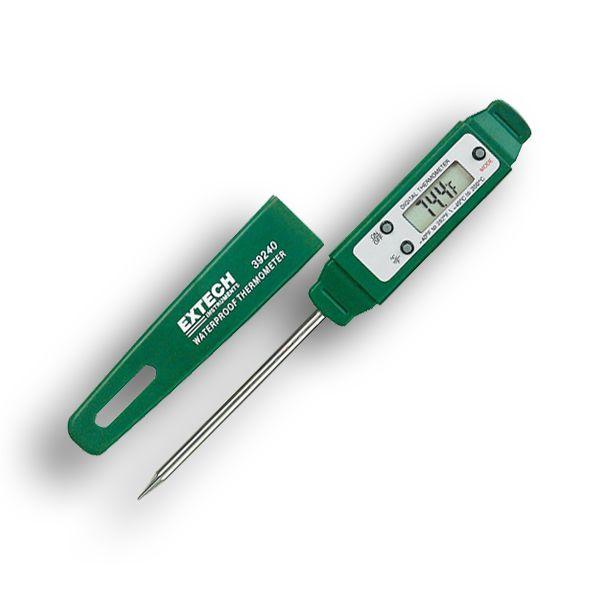 http://www.termometer.se/NalTemp-Instickstermometer-med-nal-vattentat.html  NålTemp - Instickstermometer med nål, vattentät - Termometer.se  Vattentät digital termometer med insticksdel i rostfritt stål. Mycket användbar för hälso-inspektörer och kökspersonal vid HACCP och egenkontroll. Den förenklar arbetet att samla in noggranna temperaturer i den tuffa omgivningen som är vardag i livsmedelsindustrin. Den fungerar där andra termometrar inte klarar av påfrestningarna som kommersiella...