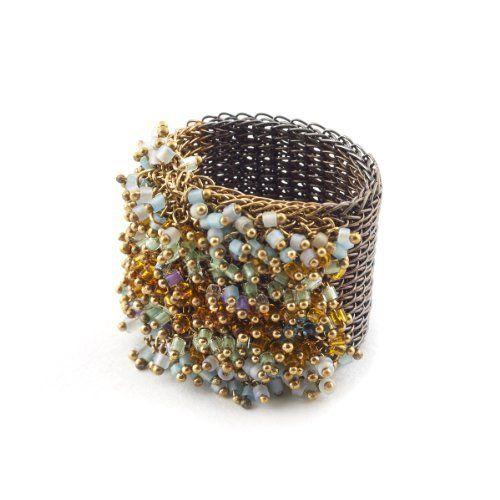 Brass Stitched Ring by Milena Zu