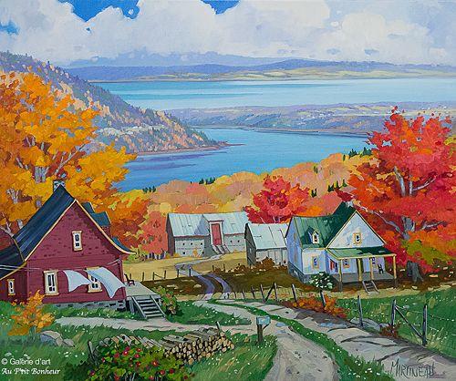 """Louise Martineau - """" À l'ombre de l'érable, Baie-St-Paul """""""