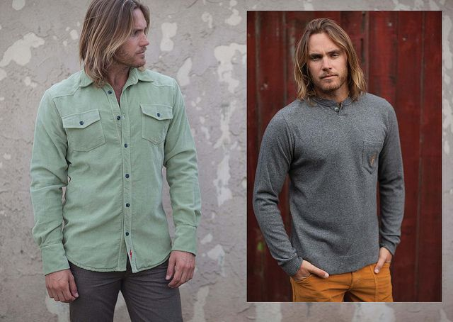 Fall Winter '13 Collection Plain Work Shirt (Left) Cashmere Blend Henley (Right) Wessen Pants (Right)