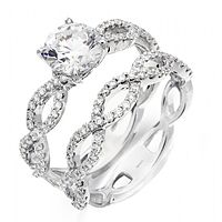 solitaire -  love the infinity design and matching wedding band!