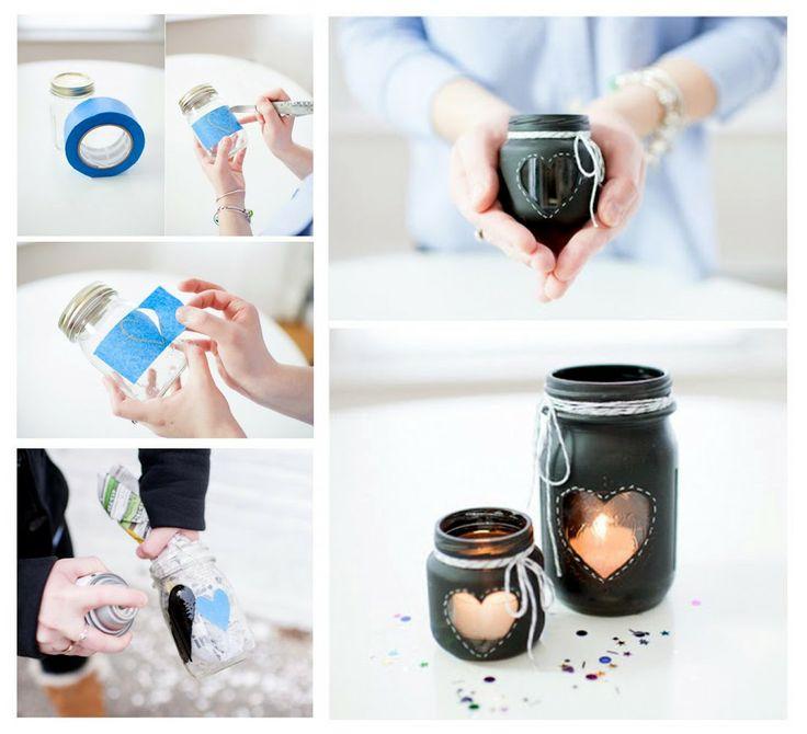 Čo takto vyrobiť si vlastnoručne krásny valentínsky svietnik. Tip pre Vás na tento víkend.    Potrebujeme:  - zaujímavý pohár či fľaša od zaváraniny - lepiaca páska, nožnice - farba v spreji - dekorácie ako motúz, stužka, korálky alebo čokoľvek podľa fantázie - čajová sviečka - http://www.rajvoni.sk/52-cajove-kahance  A K TOMU MAlÝ DARČEK PRE VÁS. LEN TENTO VÍKEND - ZĽAVA 10% NA VŠETKY ČAJOVKY A SVIEČKY V SKLE!  zľavový kód: VALENTÍN (zadajte v košíku pri dokončovaní objednávky)