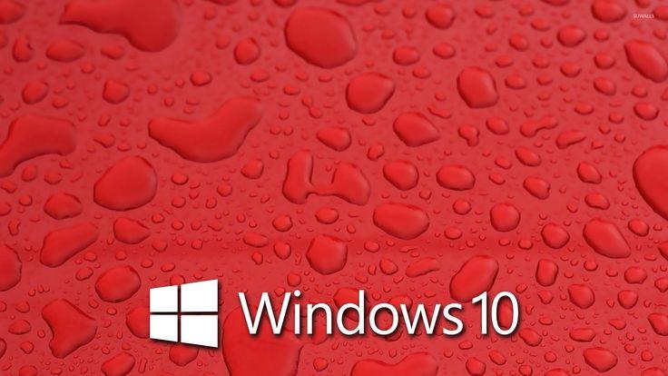Windows 10 On Water Drops 4 Wallpaper Windows 10 10 Things Windows