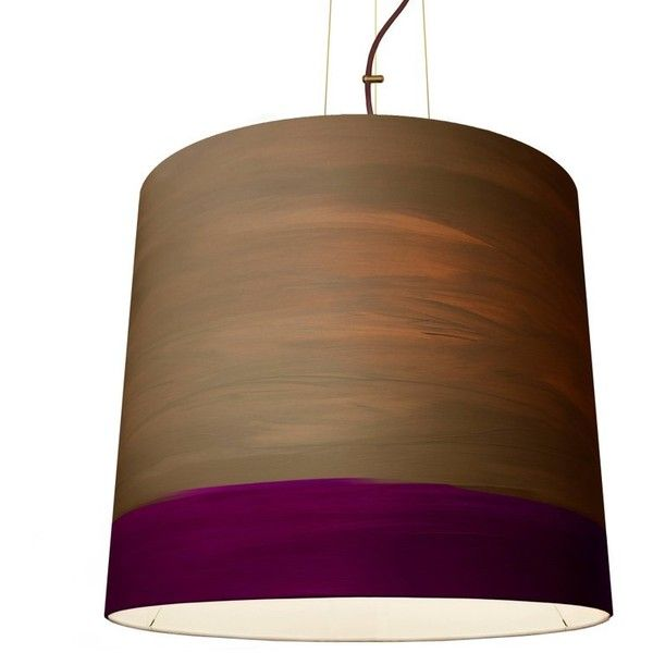 The Sisters Extra Large Twilight Pendant ($2,970) ❤ liked on Polyvore featuring home, lighting, ceiling lights, brown, chandeliers, traditional ceiling lights, traditional lamps, painted lamp, painted chandelier and colored lamps