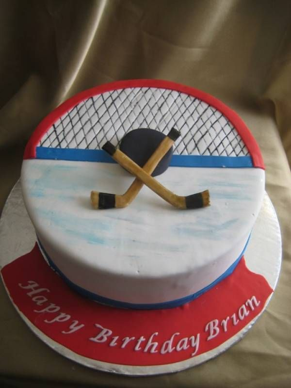 Hockey Cake - perfect for insureon CEO, Ted Devine's birthday! He's a hockey coach and enthusiast