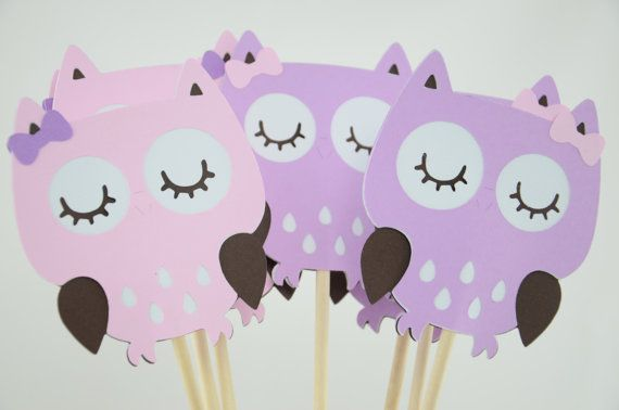 Owl Party Centerpieces Owl Theme Owl Birthday by lisamarDesigns