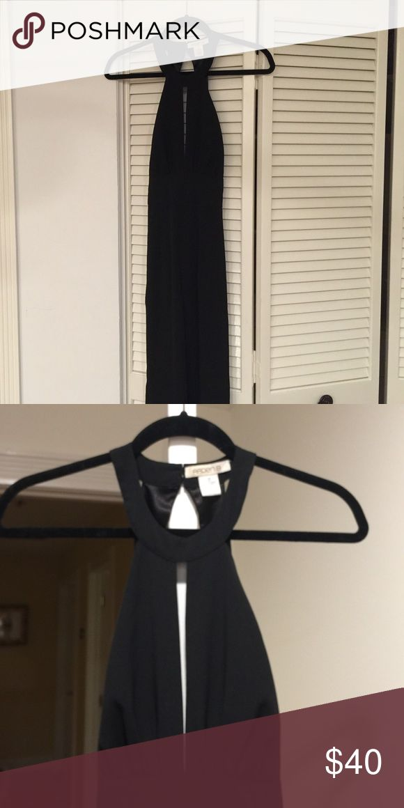 Petite black jumpsuit Awesome lightweight petite black jumpsuit. Very flattering and perfect condition. A bit hard to take photos of because it's so long, if you have any questions lmk! Arden B Other