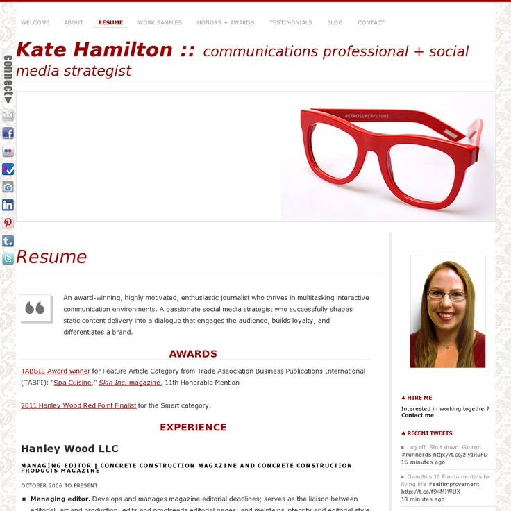 Resume as an awardwinning, highly motivated