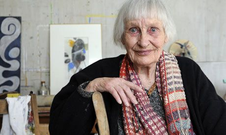 Angelica Garnett, daughter of Vanessa Bell and Duncan Grant, and favoured niece of Virginia Woolf, in 2010.