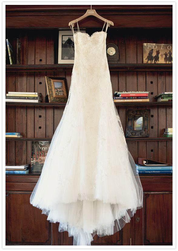 Santa Barbara Wedding Megan Carver Spaghetti Strap And Chiffon Dress