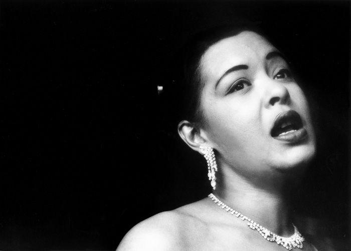 Billie Holiday, at the Tiffany Club, Los Angeles, 1951 –Bob Willoughby