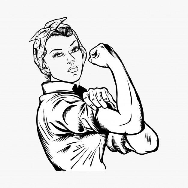 Rosie The Riveter Vector Illustration In 2021 Vector Illustration Rosie The Riveter Rosie The Riviter