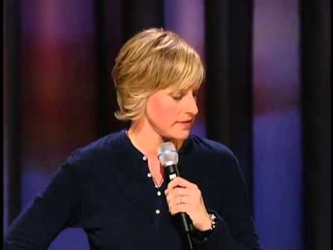 Ellen DeGeneres' stand up, 'Ellen Degeneres: Here and Now'. A hilarious routine, Ellen talks about things such as procrastination and how foolish some modern things are (as of 2003). Clean humor, this is hilarious for the whole family!