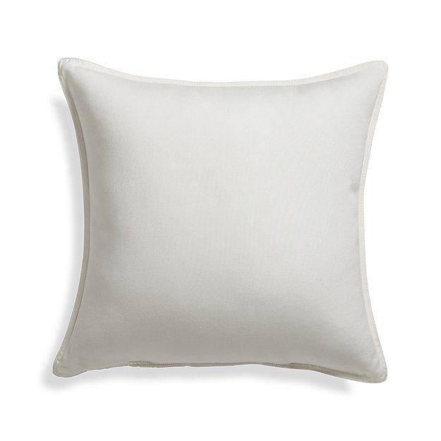 "Sunbrella ® White Sand 20"" Sq. Outdoor Pillow | Crate and Barrel"
