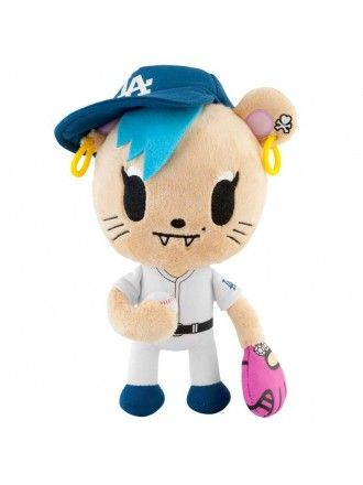 """tokidoki x MLB Dodgers 8"""" Royal Pride Savannah Plush"""