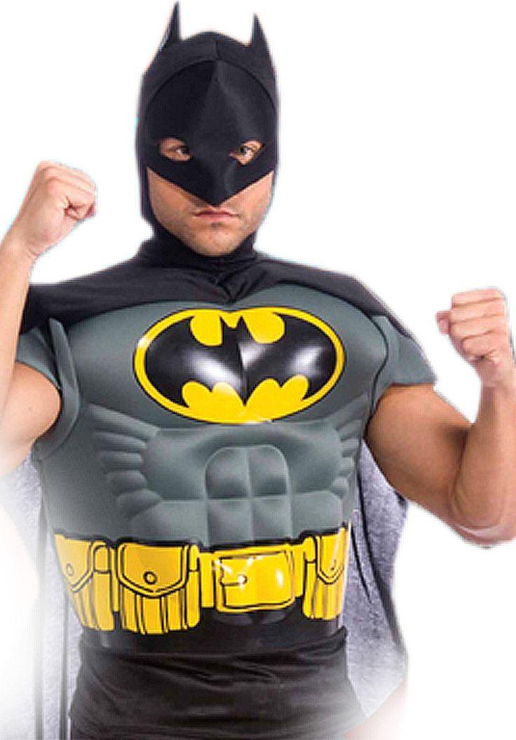 Batman Muscle Chest Top Costume, Batman Fancy Dress - Superhero Costumes at Escapade