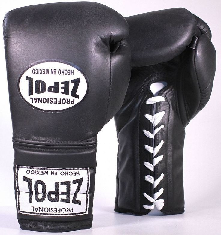 ZEPOL Professional Boxing Mexican Leather Training/Sparring Boxing Gloves -Black #ZepolProfessional