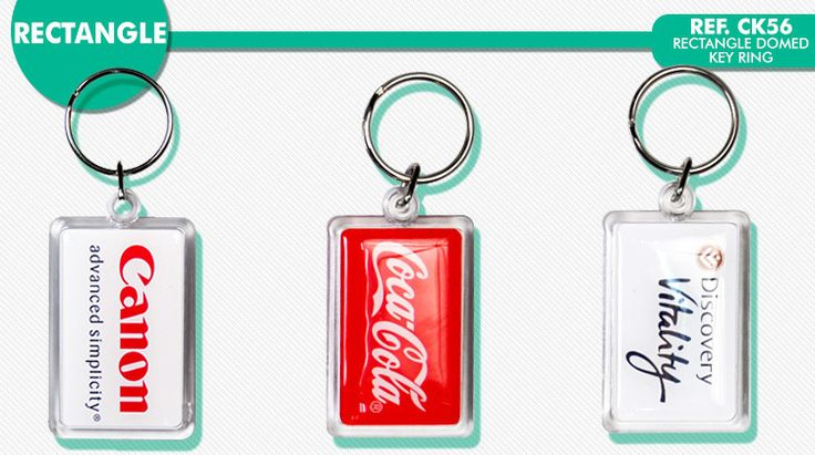 Domed Key Ring, Rectangle shape key ring, CK56 KEY RING, Key Ring made in South Africa.  free branding on key rings. key rings supplied by Best Branding.