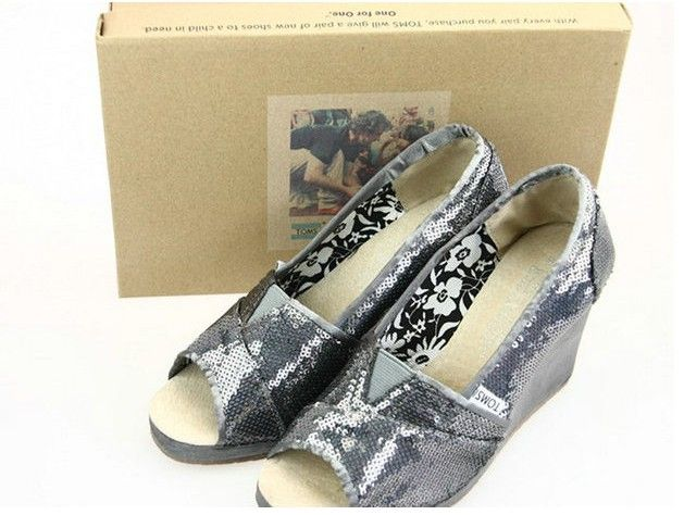 Toms Wedges Pewter Sequins Womens : Toms Outlet|One For One, Toms outlet one for one store,cheapest toms shoes on sale.Just one for one,special for kids which without shoes.Every purchase you make,toms outlet also will help a person in need.