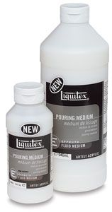Liquitex Pouring Medium creates even puddles, poured sheets, and flowing applications of color without crazing or cracking. The paint film d...