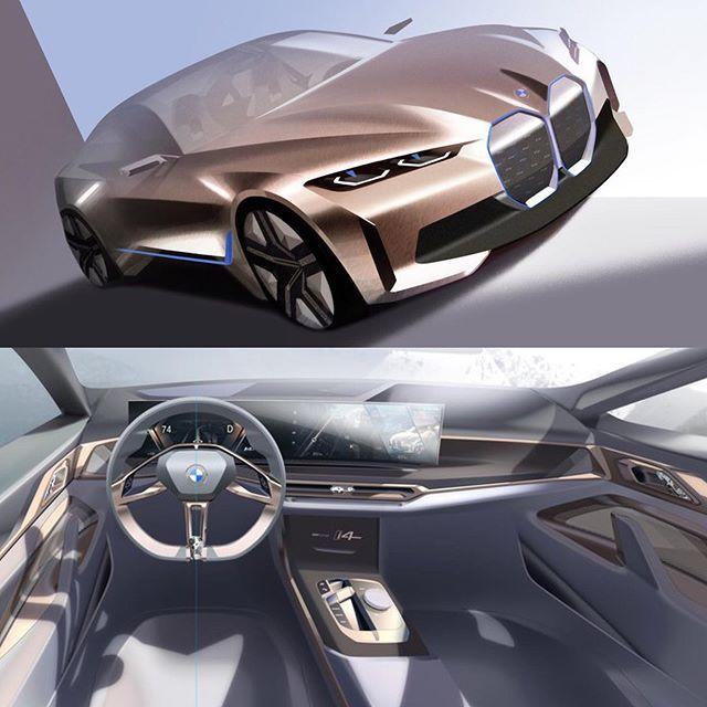 Car Design Sketch Sur Instagram 2020 Bmw I4 Concept Official Sketches In 2020 Car Design Car Design Sketch Design Sketch