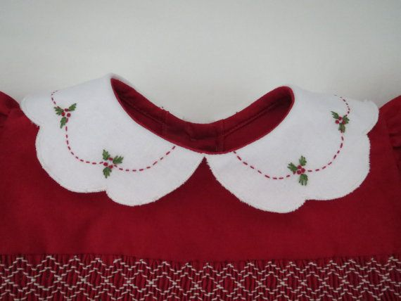 Adorable Red and White Christmas Dress for by AnnetteGraceDesigns