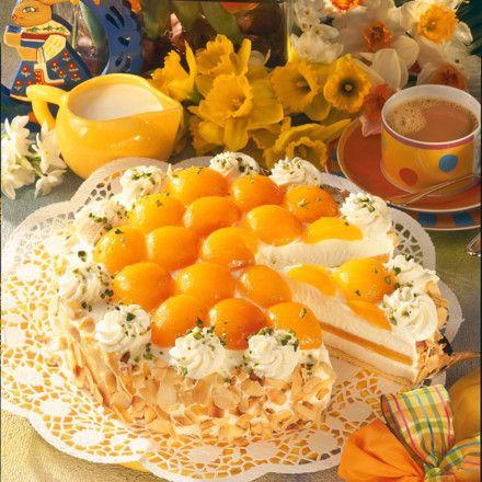 Joghurt-Aprikosentorte Rezept   LECKER