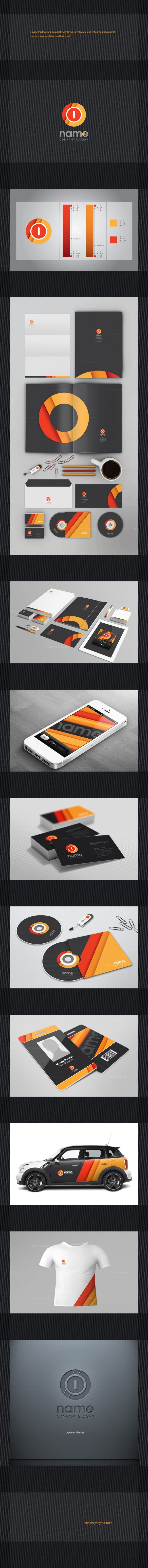 Corporate identity by Manar Mo, via Behance