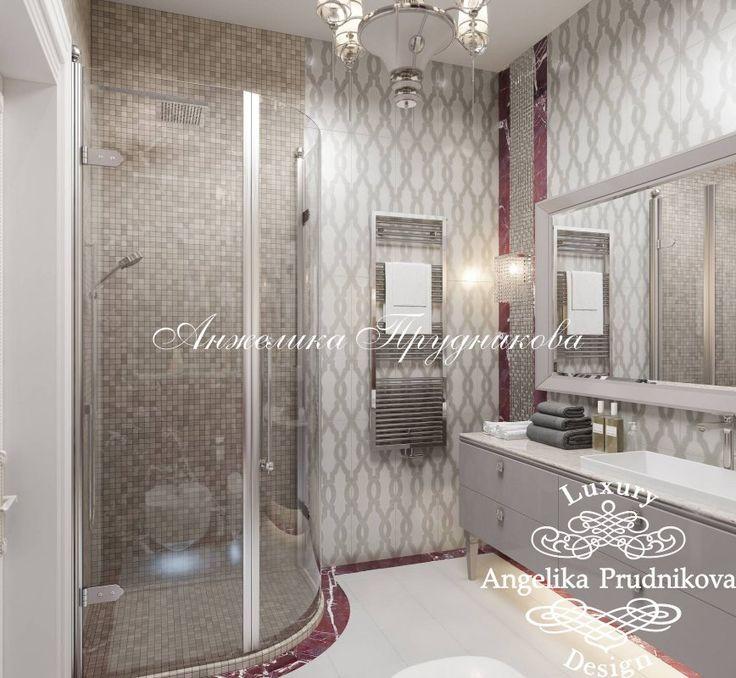 Дизайн интерьера ванной дома в поселке Миллениум Парк. Фото 2017 - Реализованные объекты