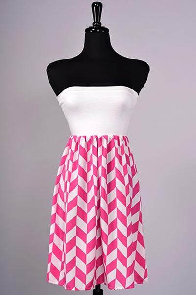 Chevron Pink Dress ~ $38  Color: Fuchsia Sizes: S,M,L   Shop online www.aliandcoboutique.com